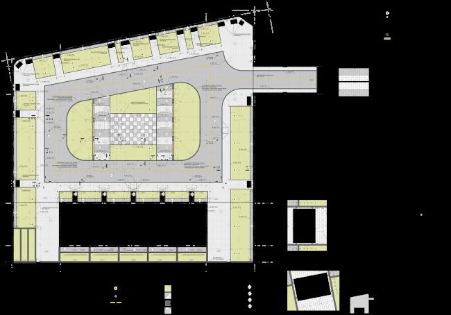 Жилой комплекс ЗИЛАРТ.  План благоустройства двора © Евгений Герасимов и партнеры