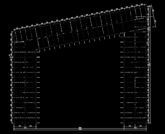 Жилой комплекс ЗИЛАРТ. План 3-7 этажей © Евгений Герасимов и партнеры