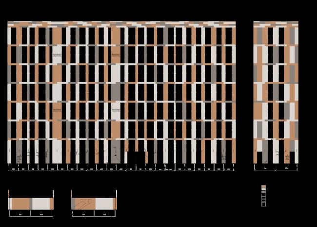 Жилой комплекс ЗИЛАРТ. Корпус 1, фасады Б-В © Евгений Герасимов и партнеры
