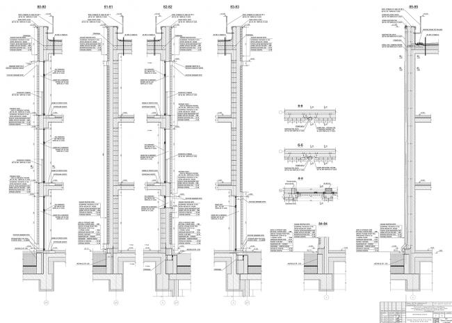 Жилой комплекс ЗИЛАРТ. Таунхаусы. Сечения по фасадам © Евгений Герасимов и партнеры