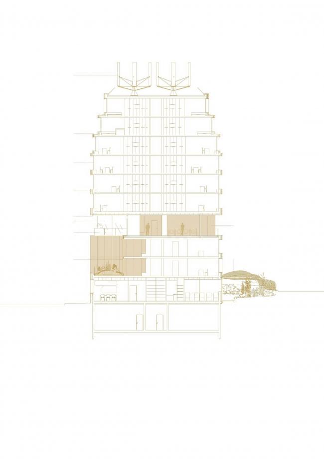 Хостел и детский сад в районе Порт-де-Лила © Avenier Cornejo Architectes & Chartier Dalix