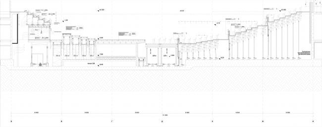 Филармония в парке «Зарядье». Схема механизации главного зала © ТПО «Резерв»––