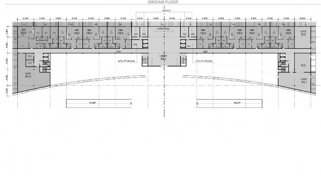 Проект PalmJumairahCommunity. План первого этажа © «ГрандПроектСити»