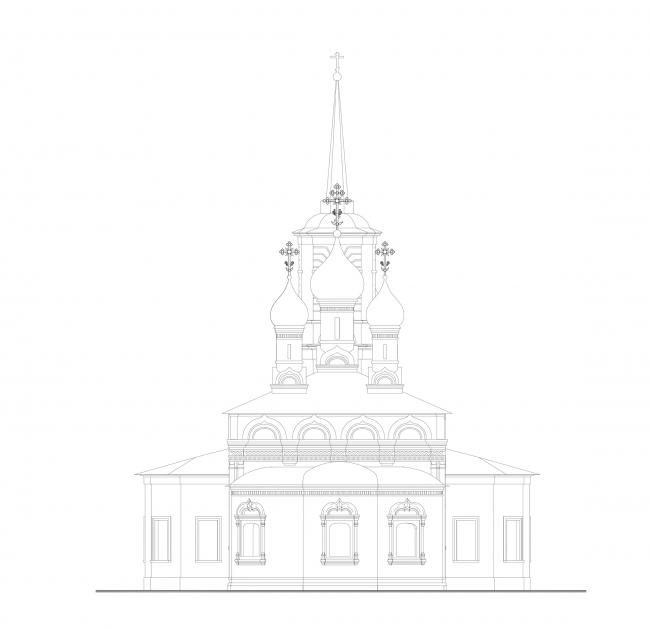 Церковь Воскресения Христова на Остоженке. Восточный фасад © Алексей Котов