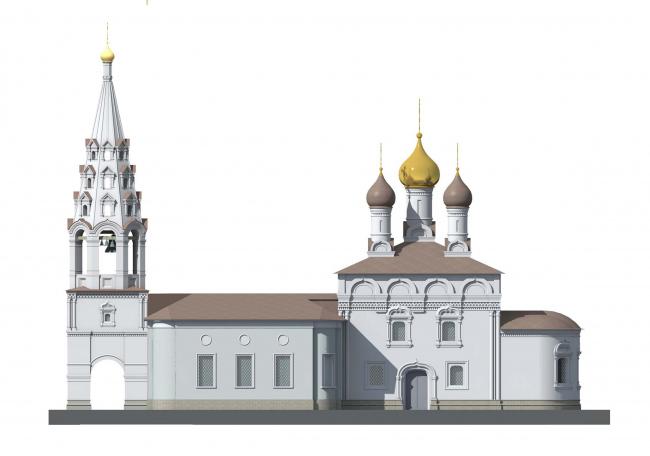 Церковь Воскресения Христова на Остоженке. Южный фасад, вариант 2014 года © Алексей Котов