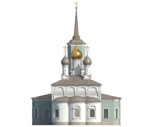Церковь Воскресения Христова на Остоженке. Восточный фасад. Вариант 2017 года © Алексей Котов