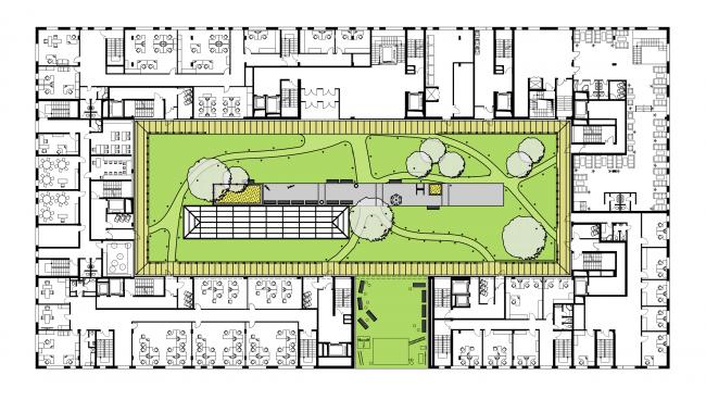 Жилой комплекс  «ASTRA». План 2 этажа © SYNCHROTECTURE