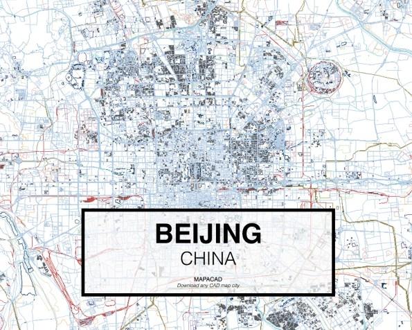 Карта Пекина. Скриншот с сайта mapacad.com