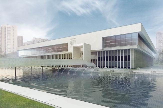 Проект восстановления библиотеки ИНИОН © ООО «ГИПРОКОН». Предоставлено пресс-службой «Москомархитектуры»