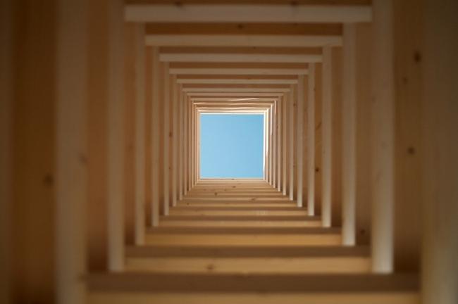 Инсталляция CuboED в Тульской области © Мастерская Тотана Кузембаева