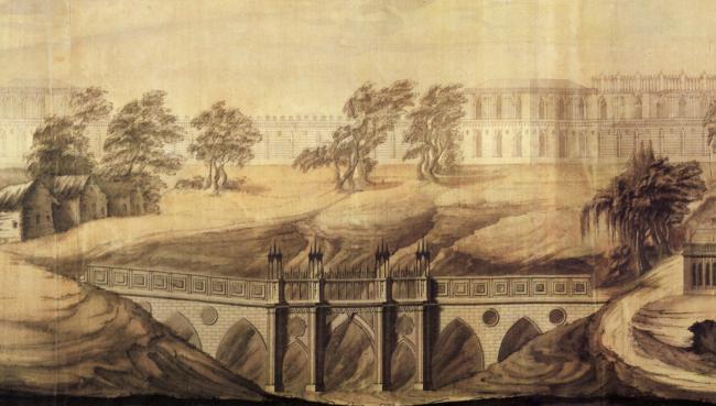 Василий Иванович Баженов, «Вид Царицына села», проект, 1776 год / commons.wikimedia.org