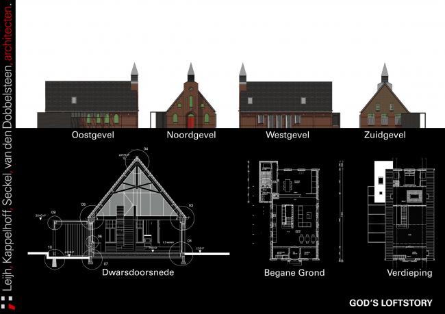 Дом God's Loft © LKSVDD architecten