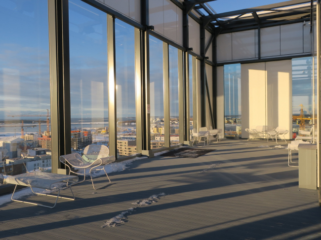 Отель Clarion. Открытая терраса на крыше. Фото: Tarja Nurmi