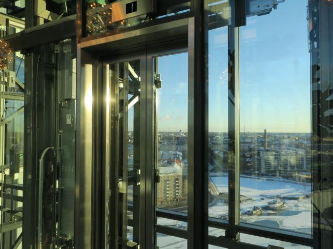 Отель Clarion. Вид из панорамного лифта. Фото: Tarja Nurmi