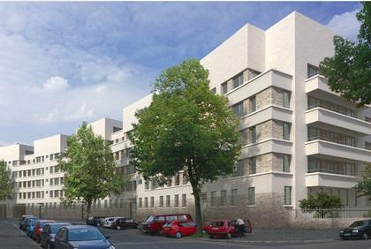 Жилой дом Schwarzwaldblock, Франкфурт. Для людей с ограниченными возможностями