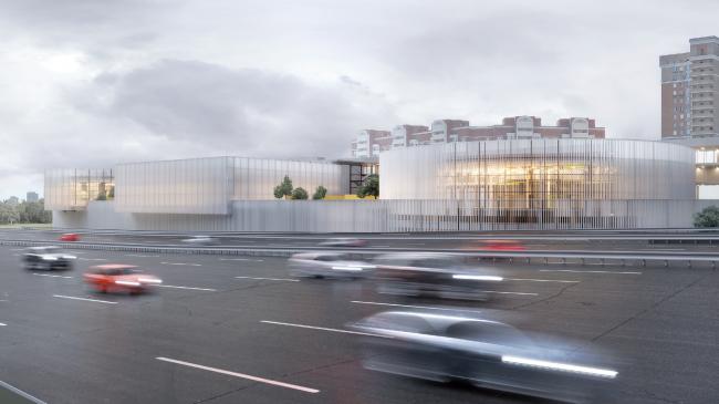 Концепция редевелопмента автоцентра на Дмитровском шоссе © MAParchitects + ПРОМКОД (Москва)