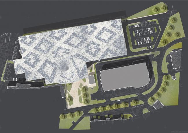 Концепция редевелопмента автоцентра на Дмитровском шоссе © Арт-фасад и Ко (Санкт-Петербург)
