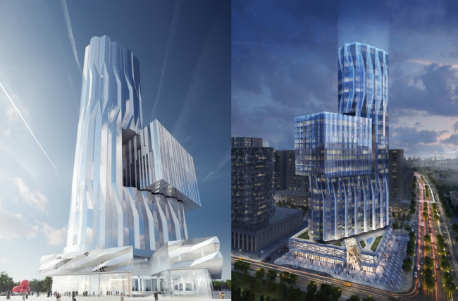 Башня ЗИЛ. Asymptote Architecture, Хани Рашид, Лиза Энн Кутюр, проект