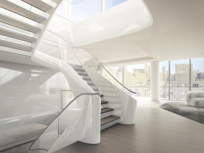 520 W 8th Street, Нью-Йорк, Заха Хадид аркитектс, проект, интерьер