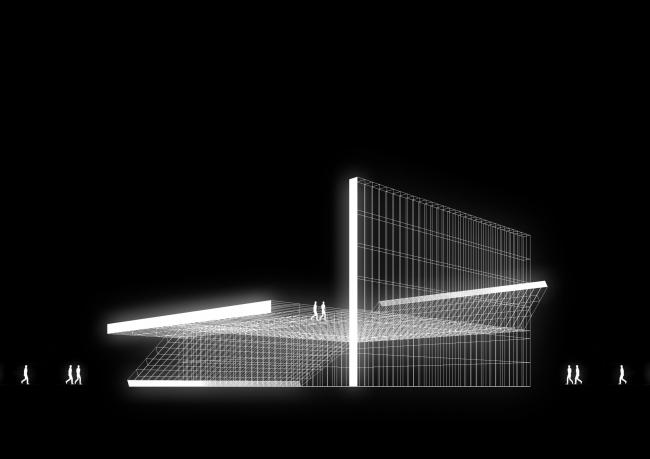 Концепция спортивного центра Nike в Парке Горького © Kosmos Architects