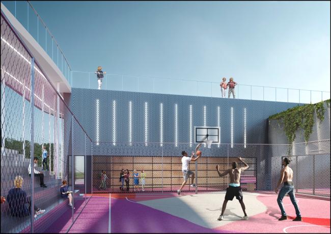 Концепция спортивного центра Nike в Парке Горького © Crosby Studios