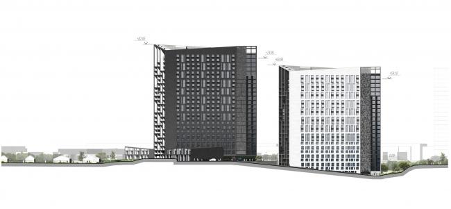 Концепция жилого комплекса в Туле © Архитектурное бюро «А.Лен»