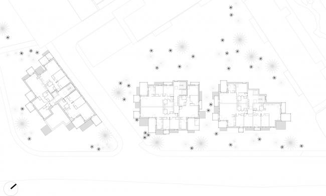 Комплекс социального жилья White Clouds © MORE architecture + Poggi Architecture