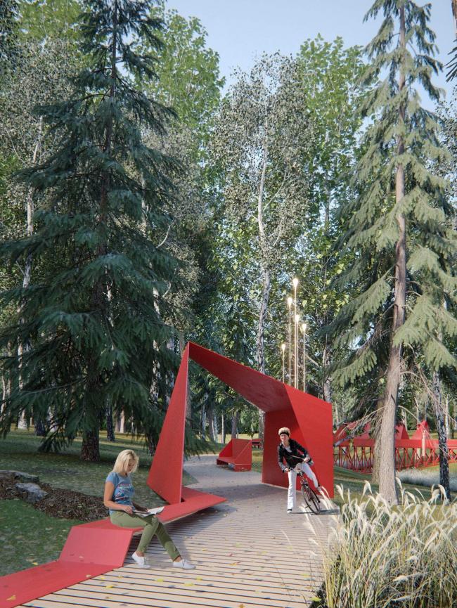 Реновация парка «Пехорка» в Балашихе. Изображение предоставлено Главархитектуры Московской области