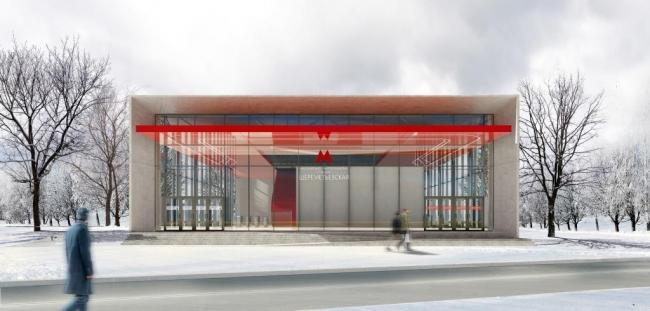 Архитектурное решение для станции «Шереметьевская». Проект бюро Vertex Architects