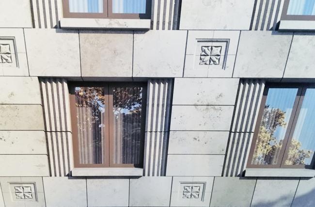 ЖК на Барочной улице в Петербурге, дом 4А © Евгений Герасимов и партнеры / пересъемка с планшета Ирины Бембель