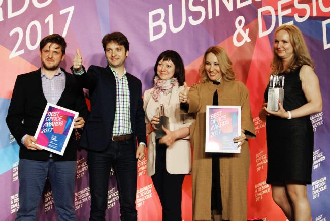 Церемония награждения победителей премии Best Office Awards. Коллектив бюро ABD architects. Фотография © Дмитрий Павликов