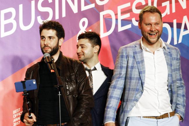 Церемония награждения победителей премии Best Office Awards. Архитектурное бюро Aurora Group.  Фотография © Дмитрий Павликов