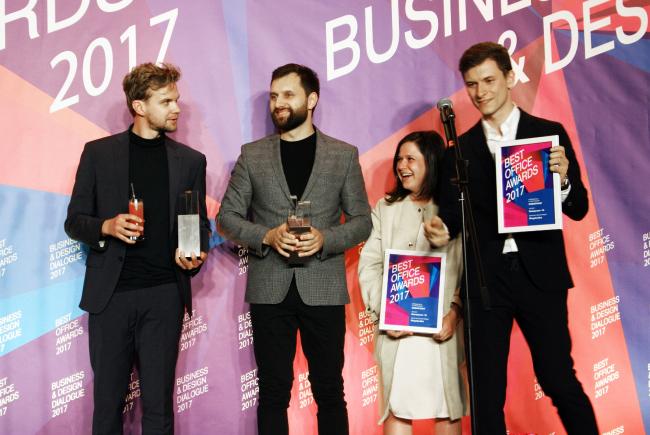 Церемония награждения победителей премии Best Office Awards. Архитектурное бюро Megabudka. Фотография © Дмитрий Павликов