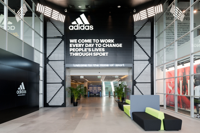 Офис компании Adidas Group. Входная зона © Архитектурное бюро ABD architects