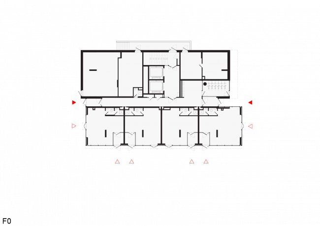 Башня и квартал на Якушева. Башня. План уровня земли © DROM