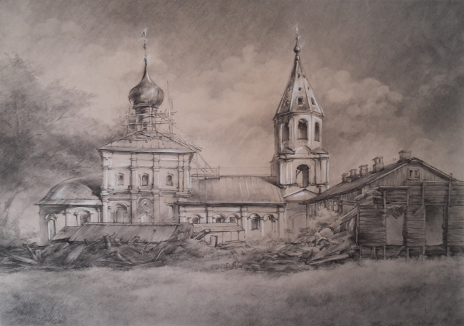 Работа Глинской Марии, 3-й курс. МАРХИ, 2017