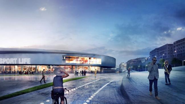 Конкурсный проект реконструкции выставочного комплекса в Генуе © Blank Architects