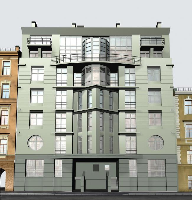 Жилой дом на Конной улице, 24 Симметрия в Архитектуре Санкт Петербурга