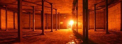 Тейт Модерн 2. Вид выставочного пространства в бывшем нефтяном резервуаре. Проект июль 2008