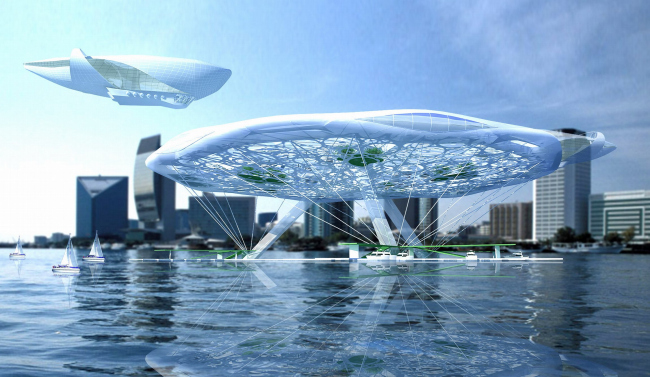 """Aerohotel"". Conceptual project of a hotel on water"