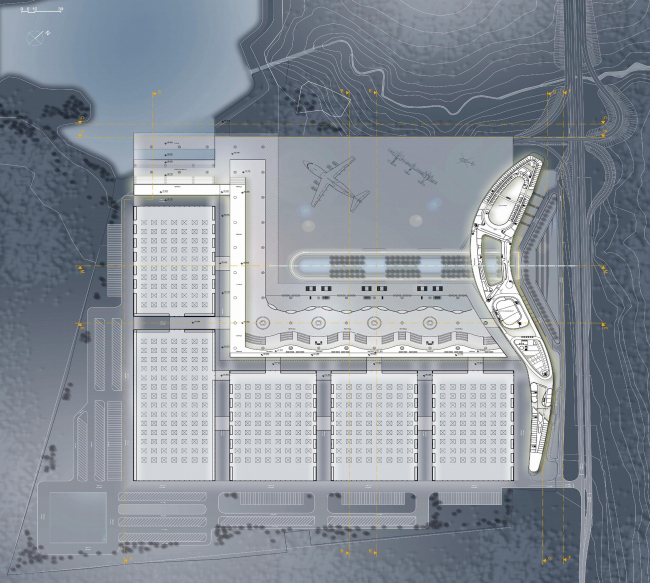 Конгрессно-выставочный комплекс «Экспофорум» на Петербургском шоссе. План 3 этажа © SPEECH, Евгений Герасимов и партнеры