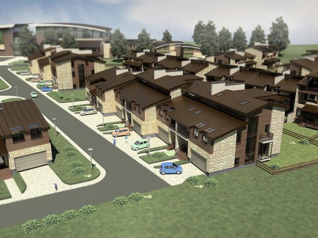 Спортивно-жилой комплекс «Олимпийская деревня Новогорск». Проект, 2009 © «Архитектуриум»