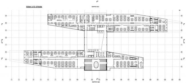 План на уровне 3 этажа