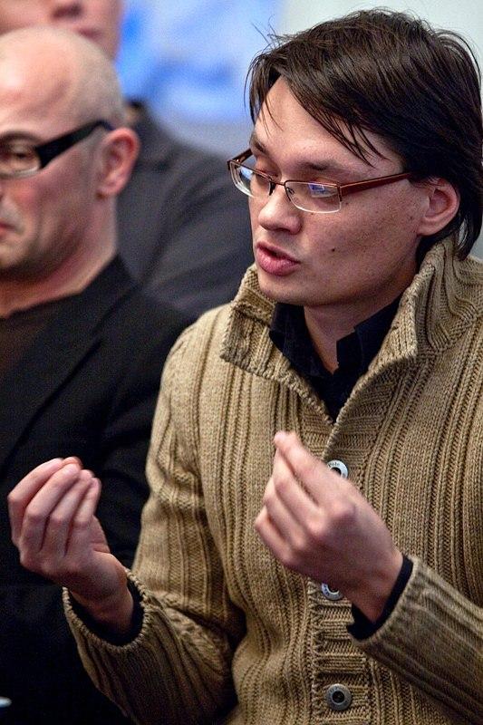 Выступление латышского архитектора Алексея Бирюкова. Фото: Илья Коузов © ПИРогово