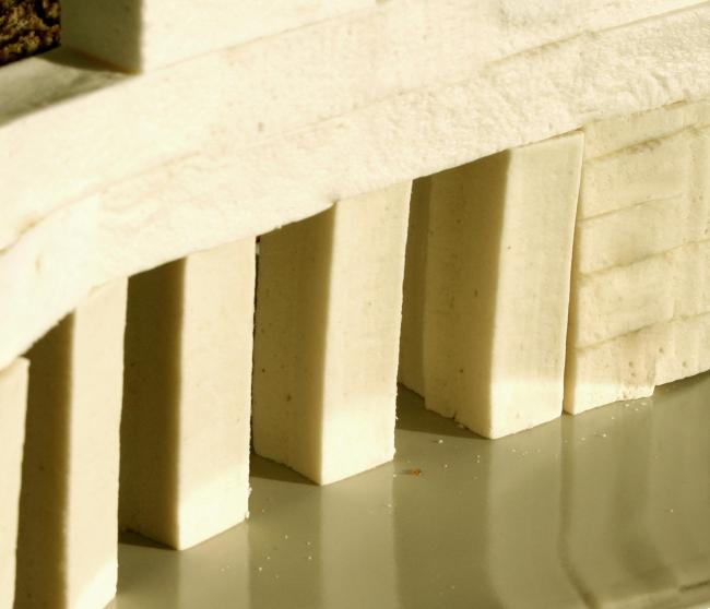 Дома из еды. Фото-натюрморты Марины Игнатушко, сделанные на церемонии награждения лауреатов рейтинга. Дом – «Дамба»