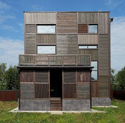 ���� ��������. Wood Patchwork House. ���� ���