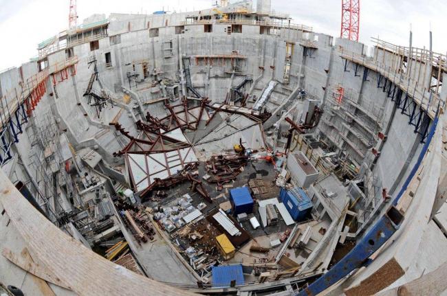 Концертный зал Elbphilarmonie. Главный зал в процессе строительства. Фото © Oliver Heissner