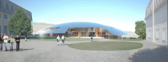 Корпус Карналей школы-пансиона «Институт Ле Розей» © Bernard Tschumi Architects