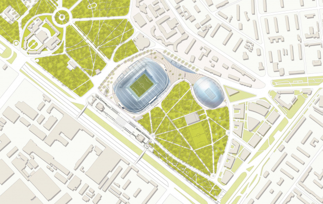 ВТБ Арена парк. Проект реконструкции стадиона «Динамо» (SPEECH и GMP)