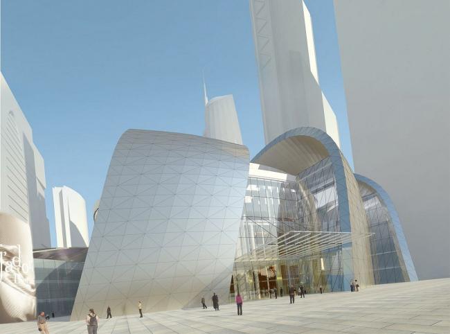 """Первоначальный вариант киноконцертного комплекса на участке под номером 6 в  """"Москва-Сити """" был создан еще в 2003 году..."""